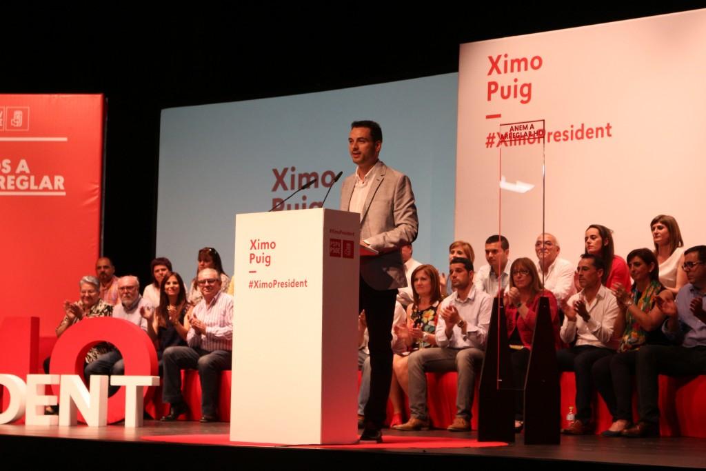 Ximo Huguet candidato socialista Onda