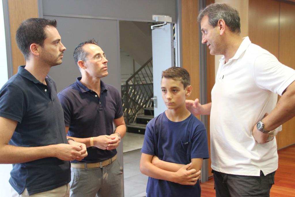 280715 Ximo Huguet, Francisco Chalmeta, Diego Lopez y Pedro Lopez