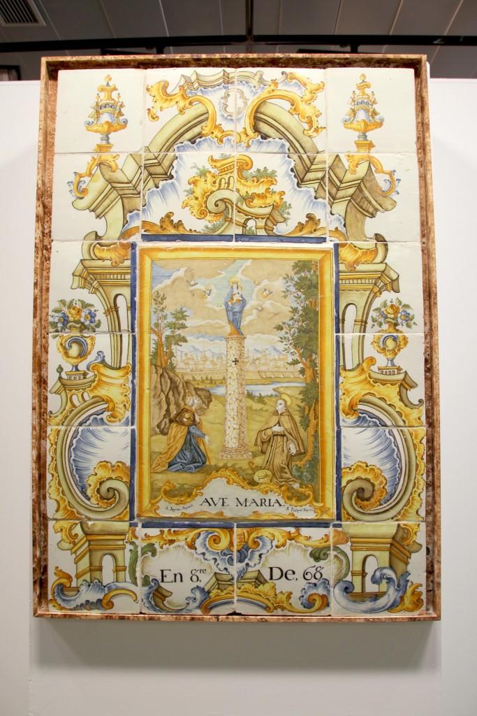 171115 Retablo cerámico Virgen del pilar Museu Taulell Onda