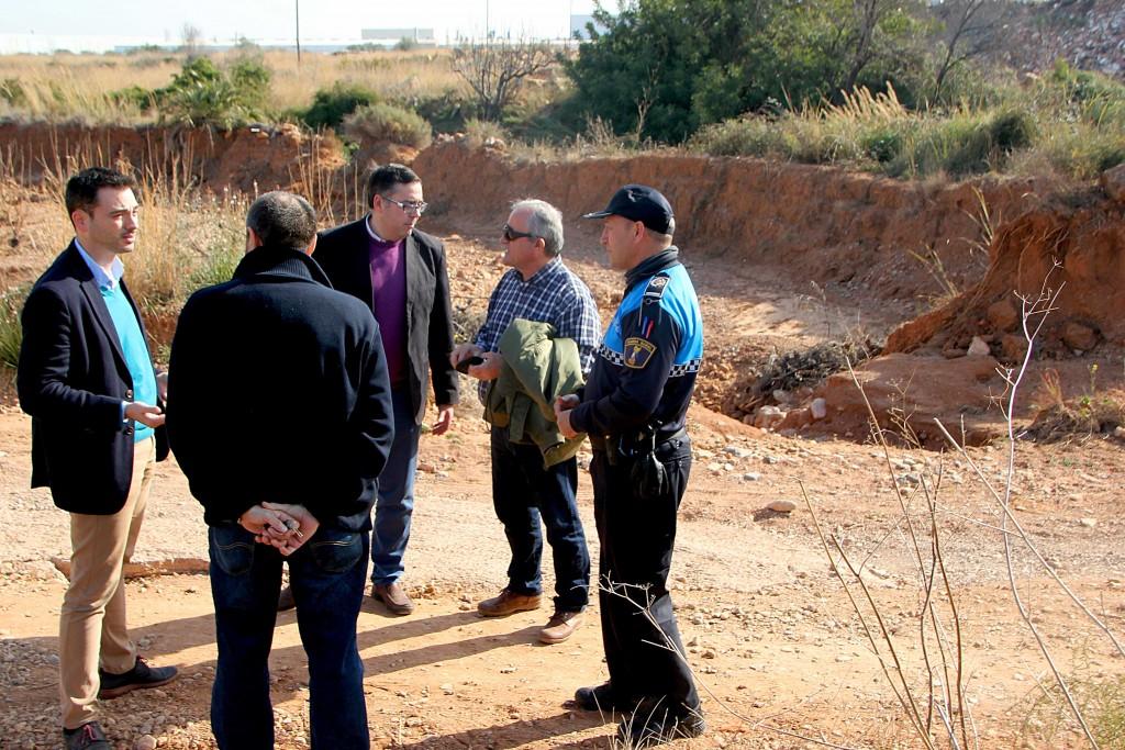 280116 Visita GV lluvias Ayuntamiento Onda Alcalde Ximo Huguet y teniente de alcalde Ángel Badenas