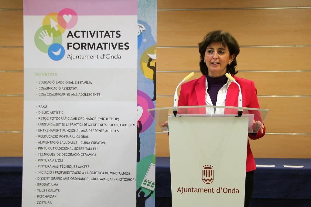 Encarna Ribes Ayuntamiento Onda Presentació Actividades Formativas
