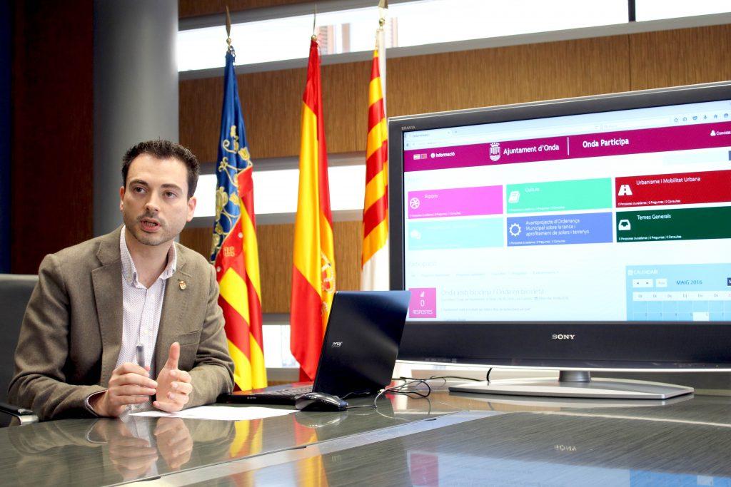 060516 RP Alcalde de Onda Ximo Huguet Portal Participación