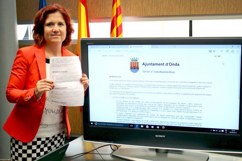280616 RP Silvia Cerdà Concejala Hacienda Ayuntamiento Onda sobre autoliquidaciones